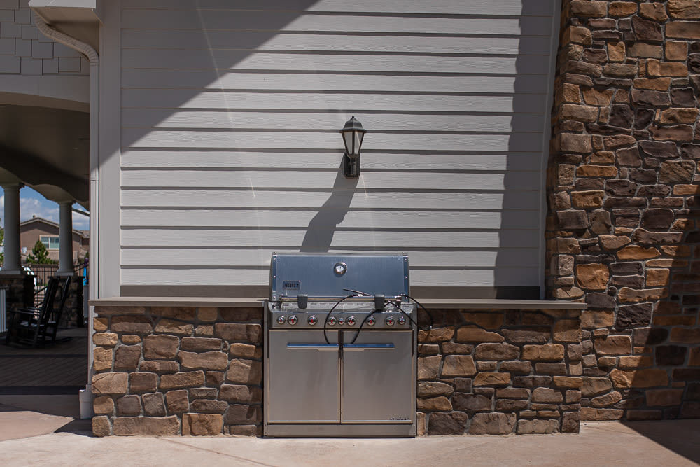 Stone Enclosure For Outdoor Grill