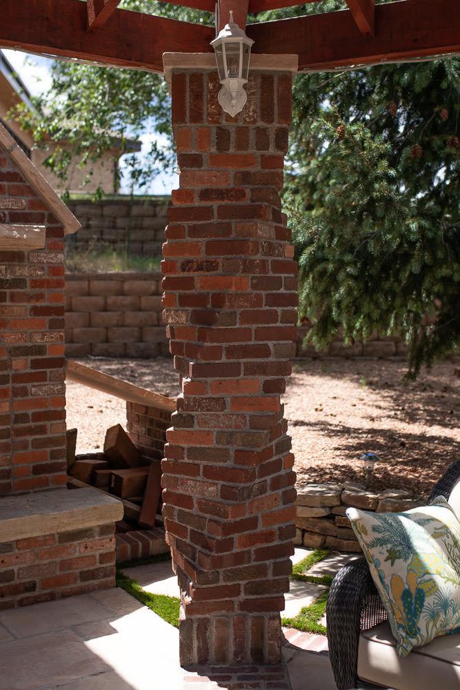 Brick Posts Holding Up Gazebo
