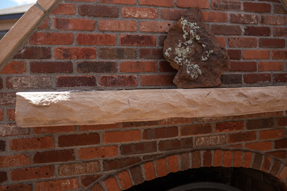 Brick Fireplace Front