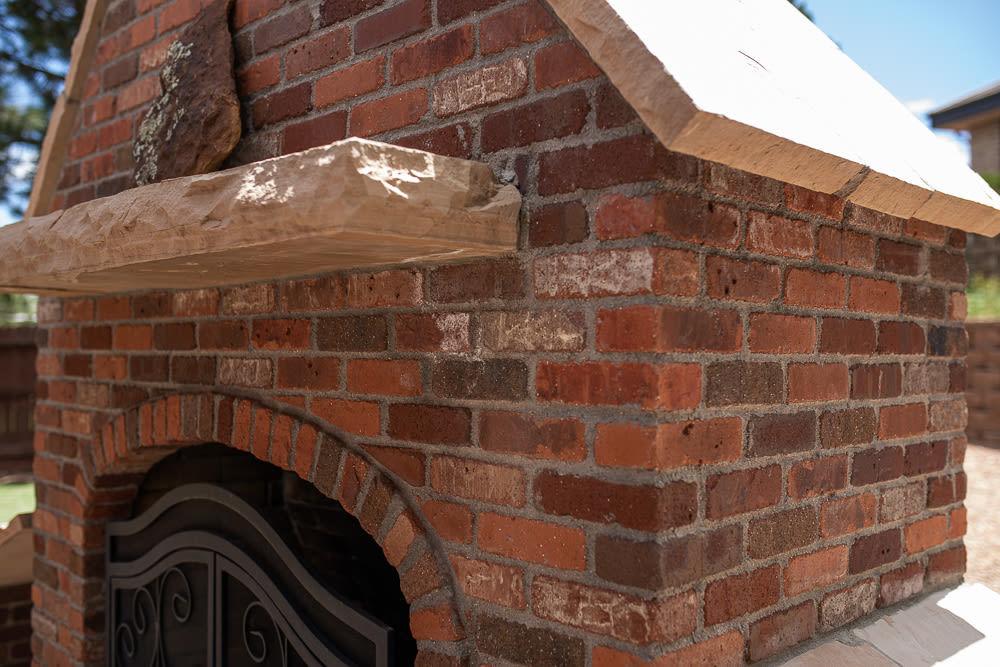 Brick Fireplace Side