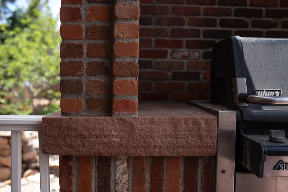 Brick Enclosure For A Grill